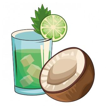 Cocktail mit kokosnuss
