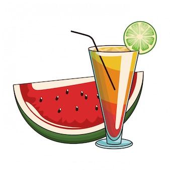 Cocktail mit wassermelone