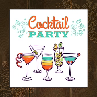 Cocktail-party-hintergrund