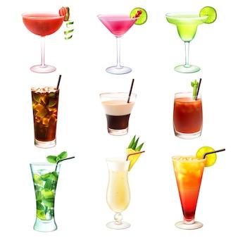 Cocktail realistisch eingestellt