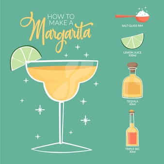Cocktail rezept konzept