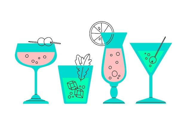 Cocktail sammlung ziehen