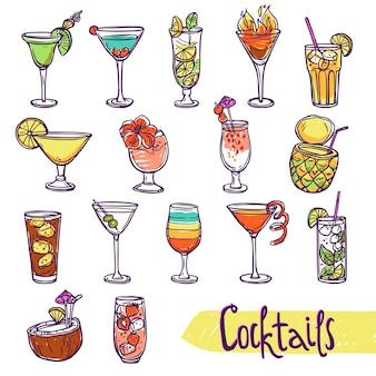 Cocktail-skizze-set