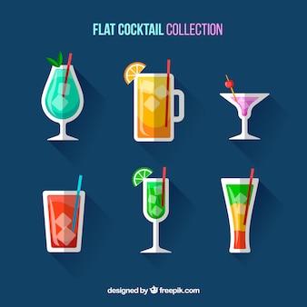 Cocktailkollektion mit flachem design