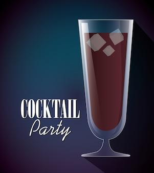 Cocktails tasse glas design