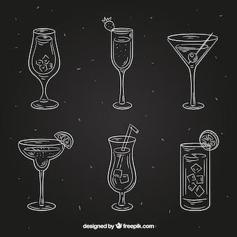 Cocktailsammlung in der tafelart