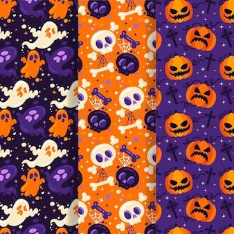 Cocnept der halloween-mustersammlung