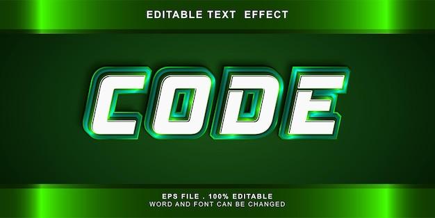 Code-text-effekt bearbeitbar