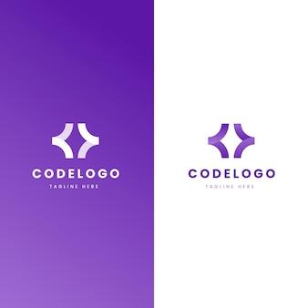 Codelogo-vorlage mit farbverlauf