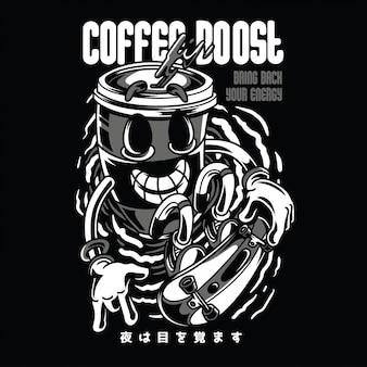 Coffee boost black n white