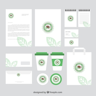Coffee-shop-branding briefpapier