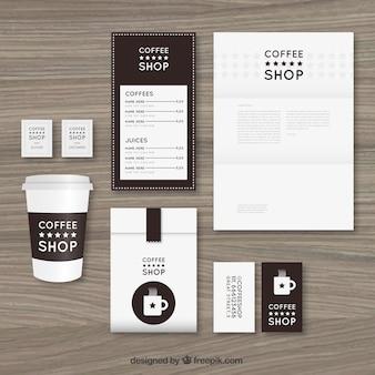 Coffee-shop briefpapier-sets