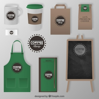 Coffee shop corporate elements