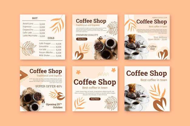 Coffee shop instagram beiträge