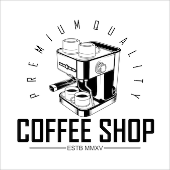 Coffee shop logo vorlage