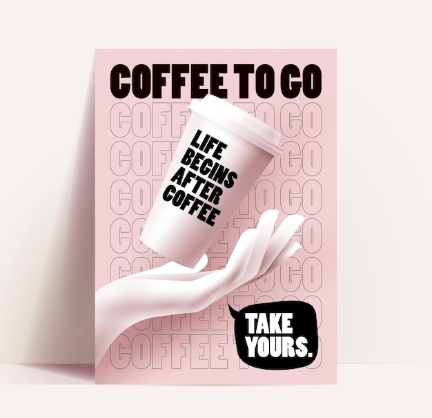 Coffee shop oder cafe flyer oder poster oder banner design-vorlage