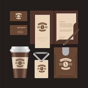 Coffee-shop-unternehmensidentität