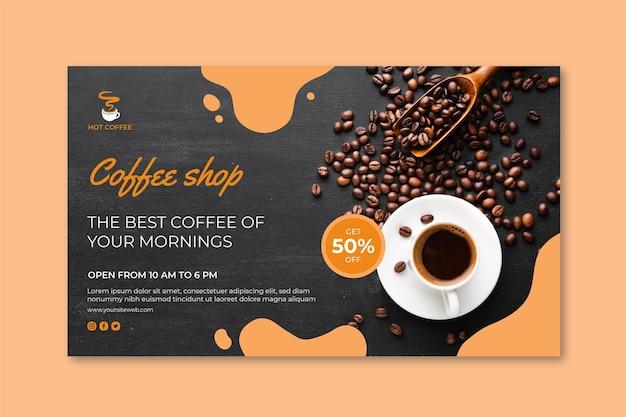 Coffeeshop-banner-konzept