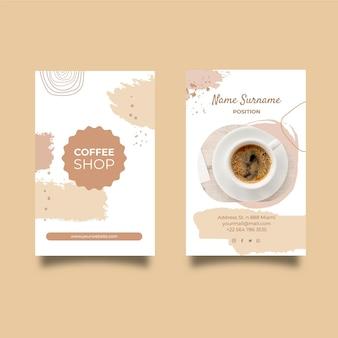 Coffeeshop doppelseitige visitenkarte