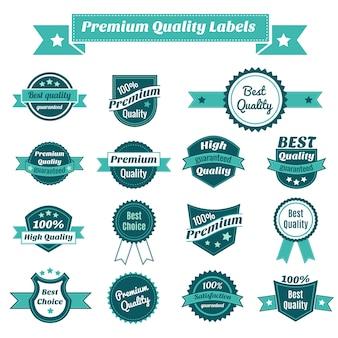 Colección de etiquetas de calidad prämie