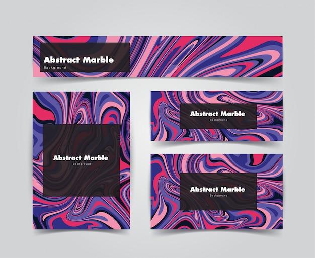 Coll moderne abstrakte marmormuster hintergrund bundle set. das set eignet sich für cover, hintergrund, visitenkartenhintergrund, einladungshintergrund, gutscheinhintergrund und jede andere kreative verwendung