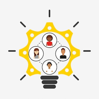 Collaborative konzept illustration