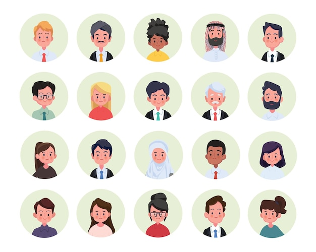Collage aus verschiedenen multiethnischen und altersgemischten lächelnden casual people group.