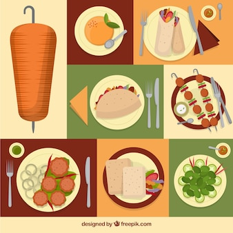 Collage von arabischen speisen