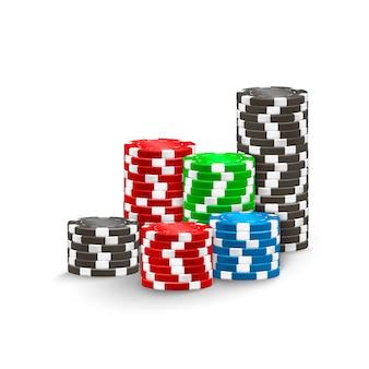 Color poker chips.