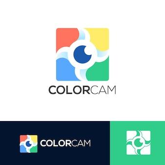 Colorcam logo vorlage Premium Vektoren