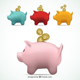 Colored sparschweine