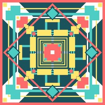 Colorfu quadratisches muster