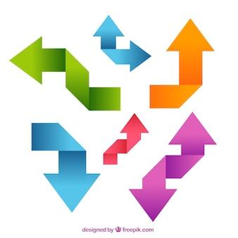 Colorful origami-pfeile