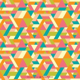 Colorful tangram-muster