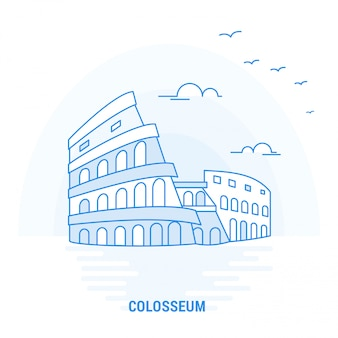 Colosseum blue landmark