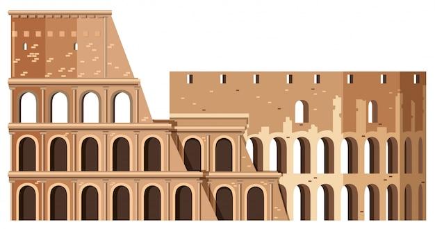 Colosseum in rom italien-markstein