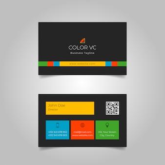 Colourfull schwarze visitenkarte