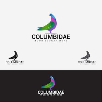 Columbidae bird logo