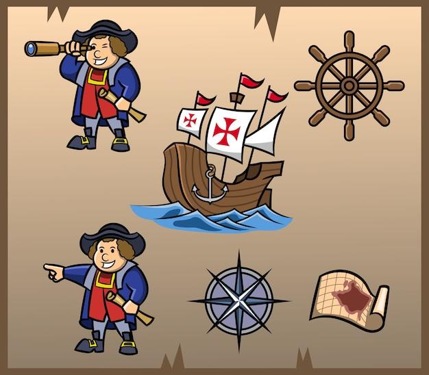 Columbus day element grafik