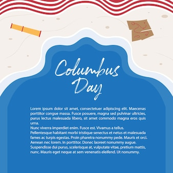 Columbus-hintergrundillustration