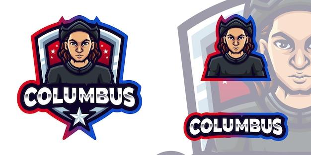 Columbus maskottchen logo für columbus day