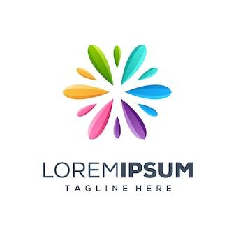 Colurful logodesign-vektorillustration der erstklassigen malerei