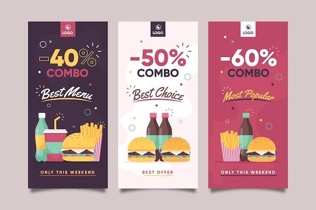Combo bietet banner-konzept