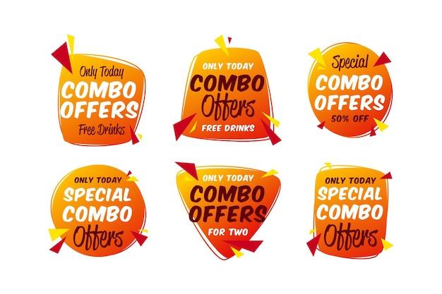 Combo bietet eine sammlung von etikettenvorlagen an