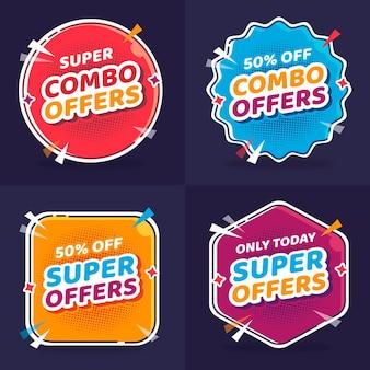 Combo bietet - etikettenkonzept