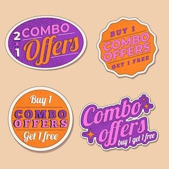 Combo bietet - etikettensammlung