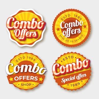 Combo bietet etikettensatz an