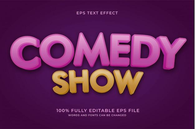 Comedy-show-texteffekt
