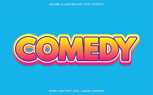 Comedy-verlaufstext-effekt