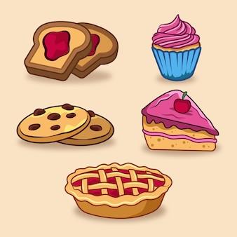Comfort food vielzahl von desserts